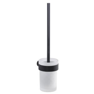 Gedy PIRENEI WC štětka závěsná, černá mat/mléčné sklo PI330314