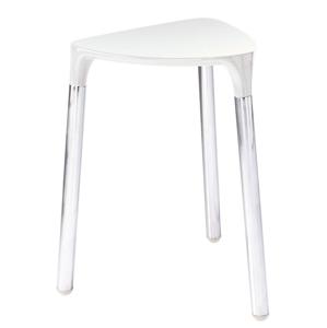 Gedy YANNIS koupelnová stolička 37x43,5x32,3 cm, bílá 217202