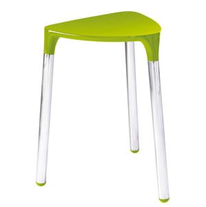 Gedy YANNIS koupelnová stolička 37x43,5x32,3 cm, zelená 217204