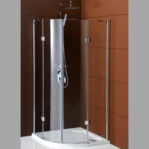 GELCO LEGRO čtvrtkruhová sprchová zástěna dvoukřídlá 900x900mm, čiré sklo GL5590