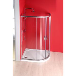 GELCO SIGMA čtvrtkruhová sprchová zástěna 1000x800 mm, R550, 2 dveře, L/R, čiré sklo SG1800