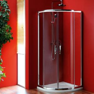 GELCO SIGMA čtvrtkruhová sprchová zástěna 900x900 mm, R550, 2 dveře, čiré sklo SG1190
