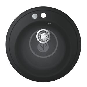 GROHE Dřezy Kompozitní dřez K200 s automatickým odtokem, průměr 510 mm, granitová černá 31656AP0
