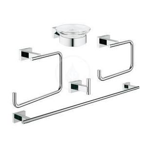 GROHE Essentials Cube Sada doplňků do koupelny 5 v 1, chrom 40758001