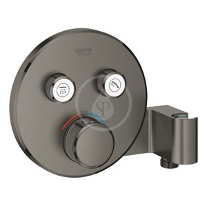 GROHE Grohtherm SmartControl Termostatická sprchová podomítková baterie, 2 ventily, s držákem na sprchu, kartáčovaný Hard Graphite 29120AL0