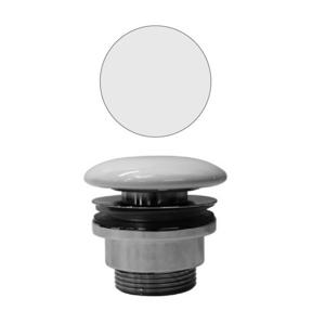 GSI Neuzavíratelná výpust, mosaz/keramická zátka, bílá mat PVC09