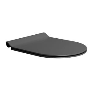 GSI WC sedátko SLIM soft close, duroplast, černá mat/chrom MS86CSN26