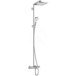 HANSGROHE Crometta Sprchová souprava E 240 Showerpipe k vaně termostat, chrom 27298000