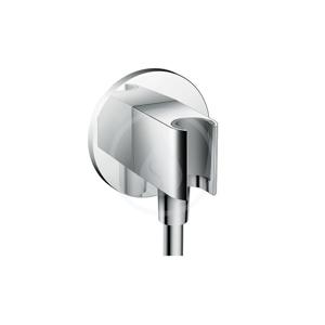 HANSGROHE Fixfit Sprchový držák Porter S se zabudovanou přípojkou pro hadici, chrom 26487000