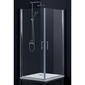 HOPA Obdélníkový a čtvercový sprchový kout SINTRA 195 cm, 80 cm × 90 cm, Univerzální, Hliník chrom, Frost bezpečnostní sklo 6 mm BCMADE280CFL+BCMADE290CFP