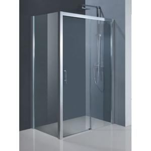 HOPA Obdélníkový sprchový kout ESTRELA KOMBI 195 cm, 140 cm × 80 cm, Levé (SX), Hliník chrom, Čiré bezpečnostní sklo 6 mm BCESTR14CCL+BCESTR80PSCC