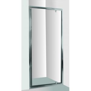 HOPA Sprchové dveře do niky SMART ALARO 80 cm, 190 cm, Univerzální, Hliník chrom, Grape bezpečnostní sklo 6 mm OLBALA80CGBV