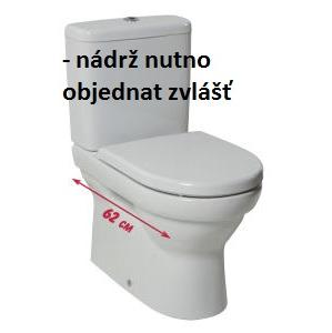 JIKA TIGO wc mísa ke kombi, pro nádrž s bočním přívodem, Vario odpad 8.2421.6.000.000.1 H8242160000001