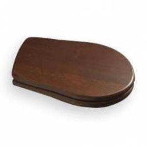KERASAN RETRO WC sedátko, dřevo masiv, ořech/bronz 109340