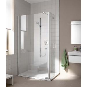 Kermi Boční stěna Cada XS TFR 09020 875-900/2000 stříbrná vys.lesk Serig.CC Clean Boční stěna, samostatně stojící s pohyblivým křídlem CCTFR09020VVK