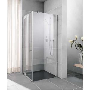 Kermi Boční stěna Pasa XP UWD 08020 770-800/2000 stříbrná matná ESG čiré b.stěna pro 1-křídlé kyvné dveře s pevnými poli PXUWD080201AK