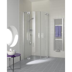 Kermi Čtvrtkruh Filia XP P50 09020 875-900/2000 stříbrná vys.lesk ESG čiré Clean Čtvrtkruhový sprch. kout kyvné dveře s pevnými poli FXP5009020VPK