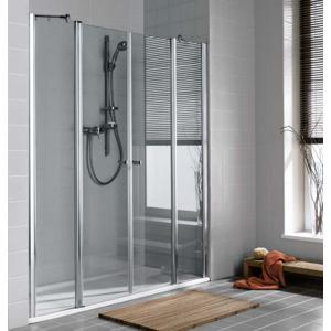 Kermi Kyvné dveře Atea PTF 18020 1760-1810/2000 stříbrná vys.lesk ESG čiré Kyvné dveře s pevnými poli ATPTF18020VAK