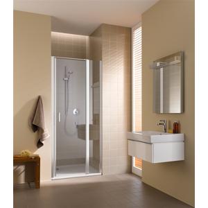 Kermi Kyvné dveře Cada XS 1GR 10020 960-1010/2000 stříbrná vys.lesk ESG čiré Clean 1-křídlé kyvné dveře s pev. polem panty vpravo CC1GR10020VPK