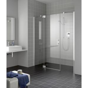 Kermi Kyvné dveře Filia XP 1GR 11020 1060-1110/2000 stříbrná vys.lesk ESG čiré Clean 1-křídlé kyvné dveře s p. poli panty vpravo FX1GR11020VPK