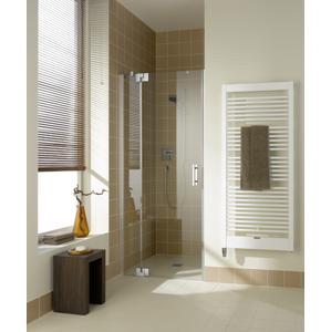 Kermi Kyvné dveře Filia XP 1TR 09020 880-910/2000 stříbrná vys.lesk ESG čiré Clean 1-křídlé kyvné dveře s p. polem panty vpravo FX1TR09020VPK