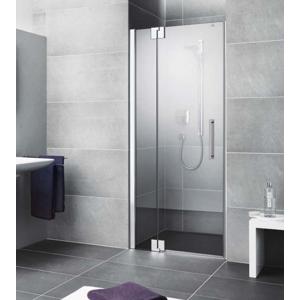 Kermi Kyvné dveře Pasa XP 1TR 09020 875-910/2000 stříbrná vys.lesk ESG čiré Clean 1-křídlé kyvné dveře s p. polem panty vpravo PX1TR09020VPK