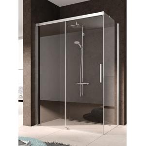 Kermi NICA stříbrná lesk boční stěna levá 900/2000 čiré s KermiClean NITWL09020VPK NITWL09020VPK