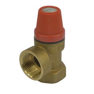 """MEREO Pojišťovací ventil pro bojler s pevně nastaveným tlakem 10 bar, 3/4"""" PR2415C"""