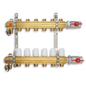 NOVASERVIS Rozdělovač s regulačními a uzavíracími ventily 3 okruhy RZ03