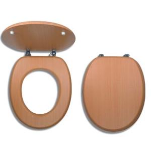 NOVASERVIS Sedátko dýhované dřevo WC/BUK