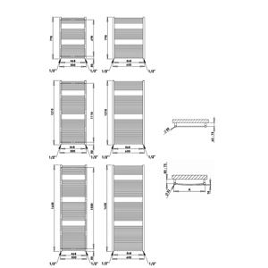 PMH TAIFUN-rovný v.1630x š.600mm bílá (P.M.H.) TS6W TS6W