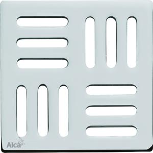 Podl.vpusť-ND Designová mřížka 102x102x4 nerez ALCAPLAST MPV001 MPV001