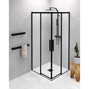 POLYSAN ALTIS LINE BLACK čtvercový sprchový kout 900x900 mm, rohový vstup, čiré sklo AL1592BAL1592B