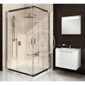 RAVAK Blix Rohový sprchový kout posuvný čtyřdílný BLRV2K 110, 1080 1100 mm, Rohový sprchový kout posuvný čtyřdílný BLRV2K 110, 1080 1100 mm barva bílá, sklo grape 1XVD0100ZG