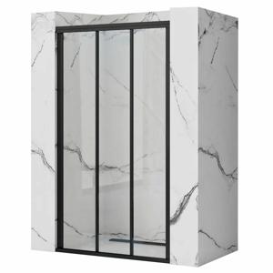 REA Sprchové dveře posuvné Alex Black 90 REA-K9638
