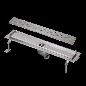 SANELA Nerez SLKN 03B koupelnový žlábek do prostoru, délka 800 mm, design B, lesk SL 69032 SL 69032
