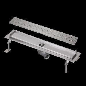 SANELA Nerez SLKN 04EX koupelnový žlábek do prostoru, délka 1000 mm, design E, mat SL 68045 SL 68045