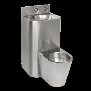 SANELA Nerez SLWN 38Z Antivandalový kompakt rovný, závěsné WC, servisní otvor SL 94281 SL 94281