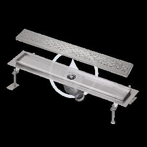SANELA Nerezové žlaby Nerezový koupelnový žlábek do prostoru, délka 750 mm, lesk SLKN 03E