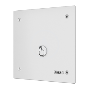 SANELA Senzorové sprchy Ovládání sprch piezo tlačítkem pro jednu vodu, chrom SLS 01PA
