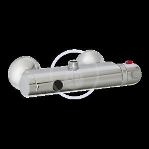 SANELA Senzorové sprchy Termostatická nástěnná sprchová baterie s horním vývodem pro bateriové napájení, chrom SLS 03B