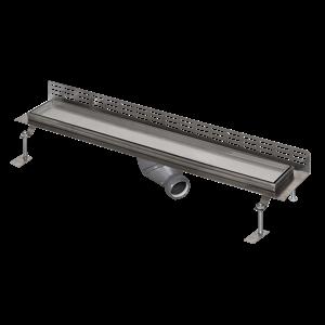 Sanela SLKN 13 Nerezový koupelnový žlábek pro vložení do dlažby ke stěně, délka 750 mm SL 69130