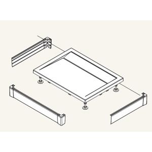 SanSwiss ILA Hliníkový panel pro obdél. vaničku-U panel,1200/800/95,04-bílá PWIU801208004