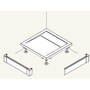 SanSwiss ILA Hliníkový panel pro čtvercovou vaničkuL panel ,1000/95,04-bílá PWIL10010004