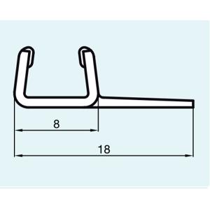 SanSwiss ND. těsnění svislé (52110), 200cm (PurLight-S) 52110.KD.2000 52110.KD.2000