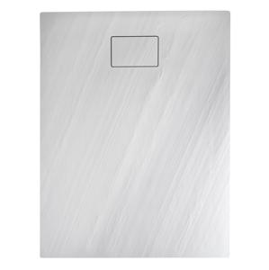 SAPHO ACORA vanička z litého mramoru, obdélník 100x80x3,5cm, bílá, dekor kámen AC003