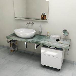 SAPHO AVICE deska 160x50cm, aquamarine AV166