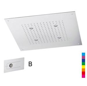 SAPHO CHROMOTERAPIE hlavová sprcha 32x32cm, déšť, ovladač B, nerez CH3232B