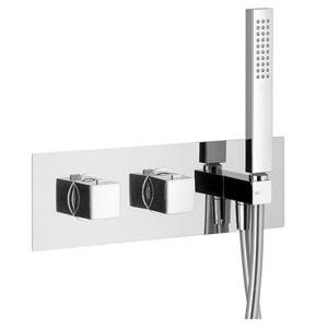 SAPHO DIMY podomítková sprchová termostatická baterie s ruční sprchou, 2 výstupy,chrom DM493