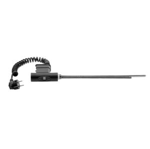 SAPHO Elektrická topná tyč s termostatem a dálkovým ovládáním, 300 W, kulatá, antracit HVO-300A